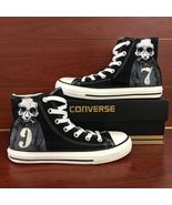 Unisex Hand Painted Canvas Shoes Design Skull Panda Converse Chuck Sneakers - $155.00