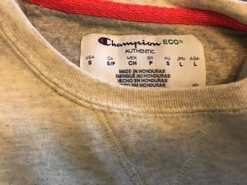 Champion sweatshirt  Gray Orange Logo Small Gussets image 3