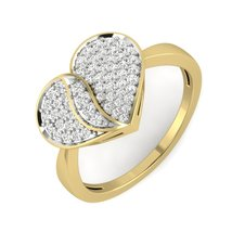 Anniversary Ring Heart Love Design White Diamond Jewelry Ring Bride Gift For Her - $319.99