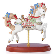 Lenox 2018 Christmas Carousel Horse Figurine Annual Santa's Fudge Shop E... - $193.00