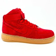 Nike Air Force 1 AF1 Hi University Red Womens Size 10 Suede 749266 601 - $100.00
