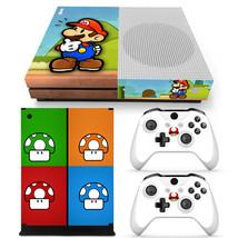 Xbox One S Super Mario Bros Console & 2 Controllers Decal Vinyl Skin Sti... - $13.83