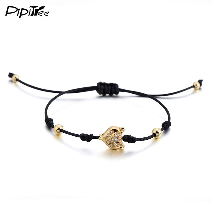 Primary image for PPitree Cute Animal Fox Red String Bracelet for Woman Girls Kids Children Adjust