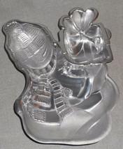 Lenox METAL YULETIDE SNOWMAN Chip and Dip MINT IN BOX - $19.79