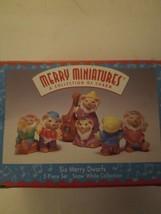 1997 Hallmark Miniatures Six Merry Dwarfs Snow White Collection 3 Pieces NOS - $6.83