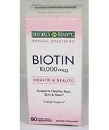 Nature's Bounty Biotin 10,000 mcg, 90 Rapid Release Liquid Softgels  - $16.95