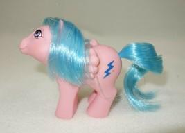 My Little Pony Baby Firefly G1 Hasbro 1983 Pink Body Blue Hair Thunderbolt - $6.74