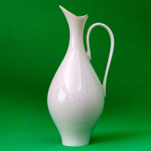 """Vintage (1960s?) Hand-Decorated (With 24K Gold) Lenox 9"""" Ivory Porcelain Pitcher - $7.95"""
