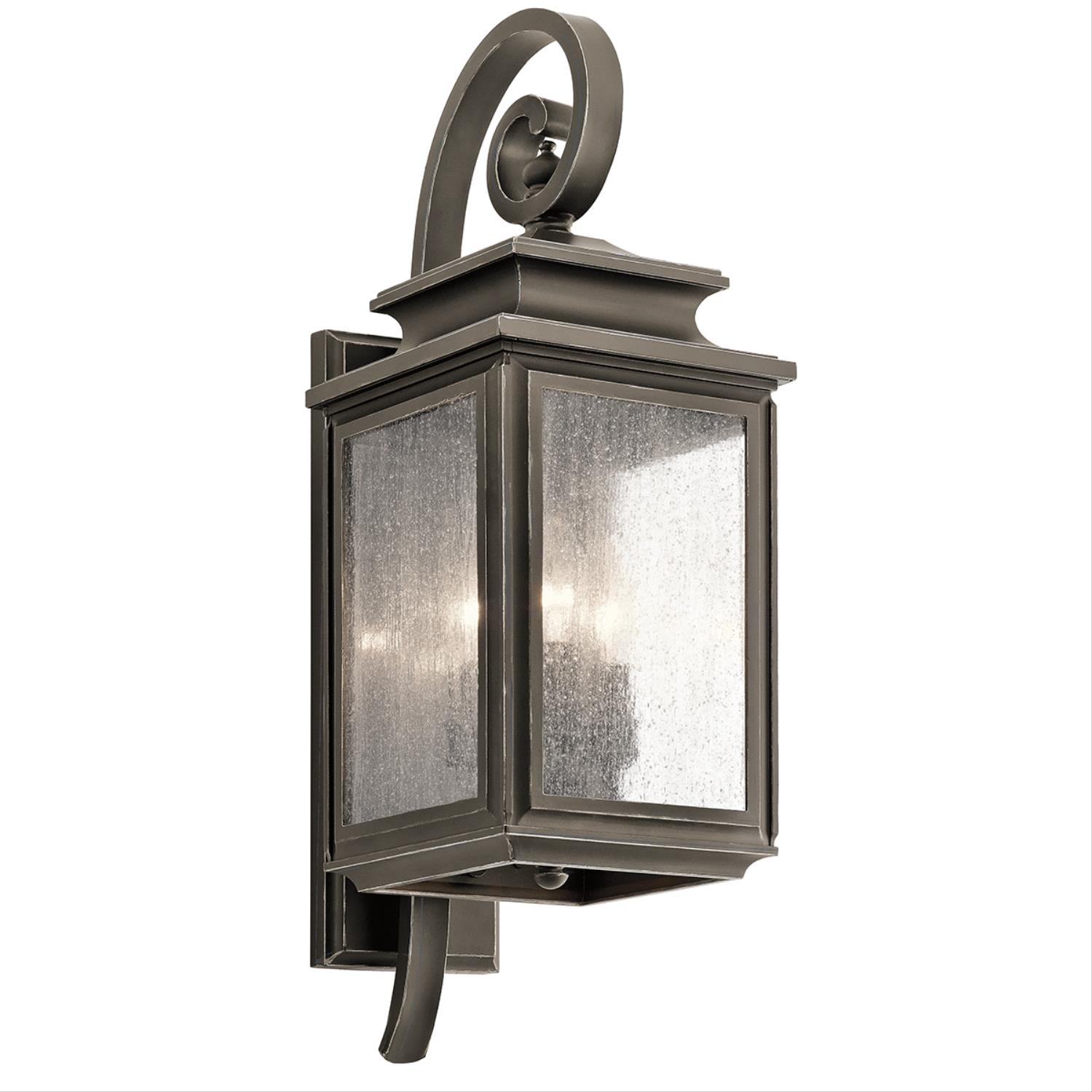 Primary image for Kichler 49502OZ Wiscombe Park Outdoor Wall Sconces 8in Olde Bronze 3-light