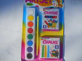 Art Set with Chalk, Crayons & Paint Set Crafts Ty145 - $13.85
