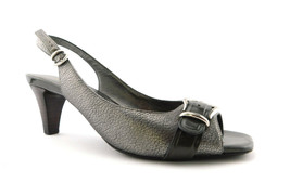 COLE HAAN Size 9 Pewter Metallic Slingback Air Heels Shoes - $59.00