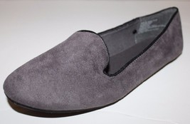 Gap NWOB Women's Gray Faux Suede Smoking Flats Shoes Loafers - $35.90