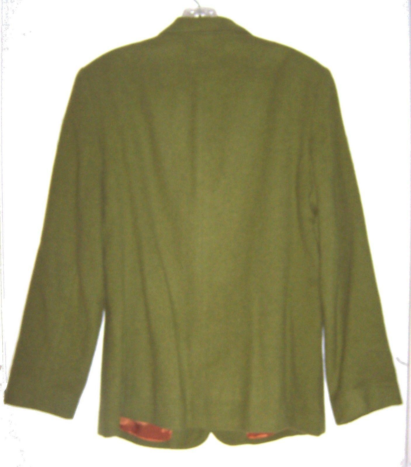 Sz 14 - Laura Scott Green Wool Blend Suit Jacket Size 14