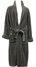 NWOT Restoration Hardware Sz M Gray Ultra Plush Fleece Mens Bathrobe Hou... - $75.05