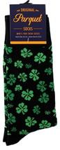 Shamrocks Mens Novelty Crew Socks Casual Cotton Blend St. Patricik's Fun... - $12.95