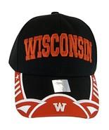 Wisconsin Men's Stars & Stripes Adjustable Baseball Cap (Black/Red) - $11.95