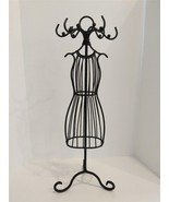 """14"""" Tall Metal Necklace Bracelet Earring Jewelry Stand Ladies Dress Form - $14.85"""