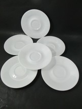 Corelle Livingware Winter White Coffee saucers only set lot 6 - $9.89