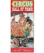 Vintage Travel Brochure Circus Hall of Fame Sarasota Florida 1960's - $9.89