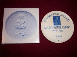 Hummel Charter Club Member Porcelain Medallion 20 Year Mint in Box  - $6.64