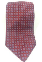 Brooks Brothers Makers Mens Neck Tie 100% Silk Burgundy Red Floral Made in USA - $14.54