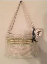 The Sak Crochet Beige Sequenced Crossbody With ... - $17.60