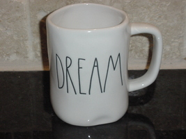 Rae Dunn DREAM Mug, Ivory with Black Lettering - $12.00