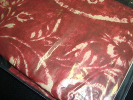 New Ralph Lauren King Bed Pillow Shams 1 One SEYCHELLES RED BATIK WINE B... - $32.95