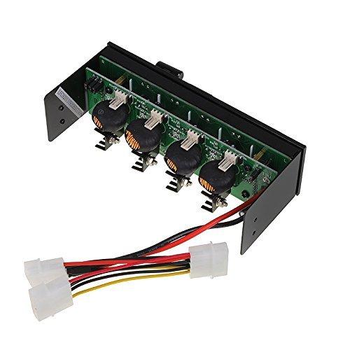 Lamptron 50W - 4 Channel Aluminum Throttle Style Fan Controller w/ Multi Color B