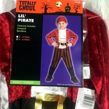 Pirate Costume Boys 4/6 Youth Children Jumpsuit Renaissance Birthday Halloween - $18.68