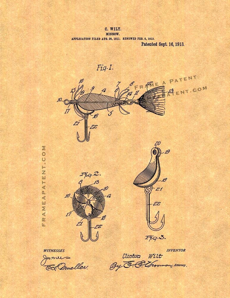 Primary image for Minnow Patent Print