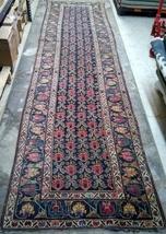 Handmade antique Persian Kurdish rug 3.2' X 12.3' (97cm X 374cm) 1880s -... - $4,200.00