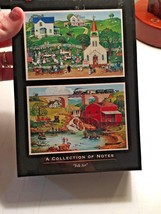 "Vintage Hallmark ""A Collection of Notes"" Designed Bob Pettes FOLK ART 11... - $1.60"