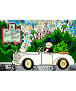 Alec Monopoly Oil Painting on Canvas Abstract Graffiti art Beverly Hills... - $14.35+