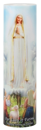 Our lady of fatima   led flameless devotion prayer candle
