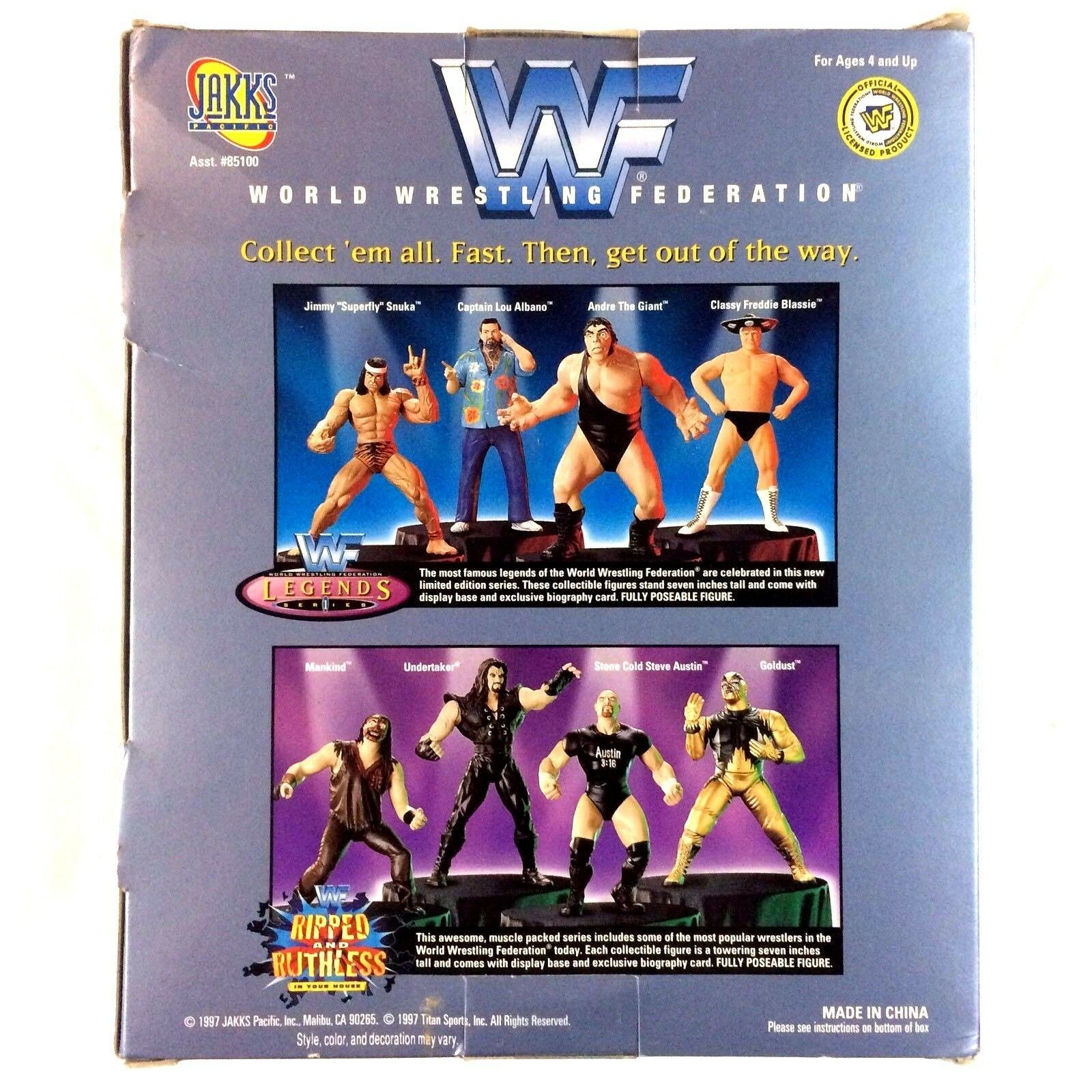 Captain Lou Albano WWF Jakks Figure Legends Series 1 1997 WWE Hall of Fame