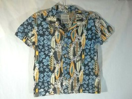 Boys Old navy Hawaiian Shirt XS Floral Surf Boards - $14.80