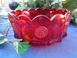 "Ruby Red Coin Glass  8"" Fostoria 1372/179  Bowl... - $28.00"