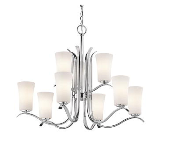 Primary image for Kichler KK43075CH Armida Collection Chandelier Nine Light with Chrome Finish