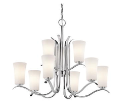 Kichler KK43075CH Armida Collection Chandelier Nine Light with Chrome Fi... - $247.45