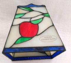 """Small 6"""" Stained Glass Lampshade White, Red, Green, & Blue image 5"""