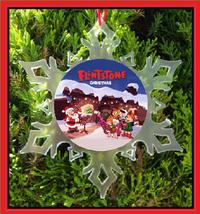Flintstones Christmas Ornament - X-MAS Snowflake Ornament - $12.95