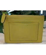 Coach Leather Oversized Mini Skinny Coin Purse Key Credit Card Case Yellow - $19.00