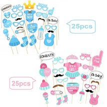 25pcs Baby Shower Photo Booth Props Little Baby Mister New Born Party De... - $8.69+