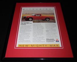 1986 Mitsubishi Mighty Max 11x14 Framed ORIGINAL Vintage Advertisement - $32.36