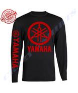RED YAMAHA RACING BLACK LONG SLEEVE TEE YZF R1 R6 YFZ BANSHEE - $19.79+