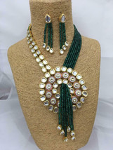 Kundan High Quality Bollywood Style Partywear Designer Necklace Set - $112.00