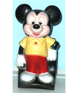 Mickey Mouse Coin Bank, Walt Disney Retro Play Pal Plastics Figural - $12.95