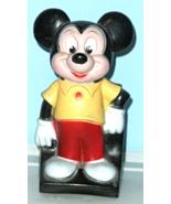 Mickey Mouse Coin Bank, Walt Disney Retro Play Pal Plastics Figural - $14.95