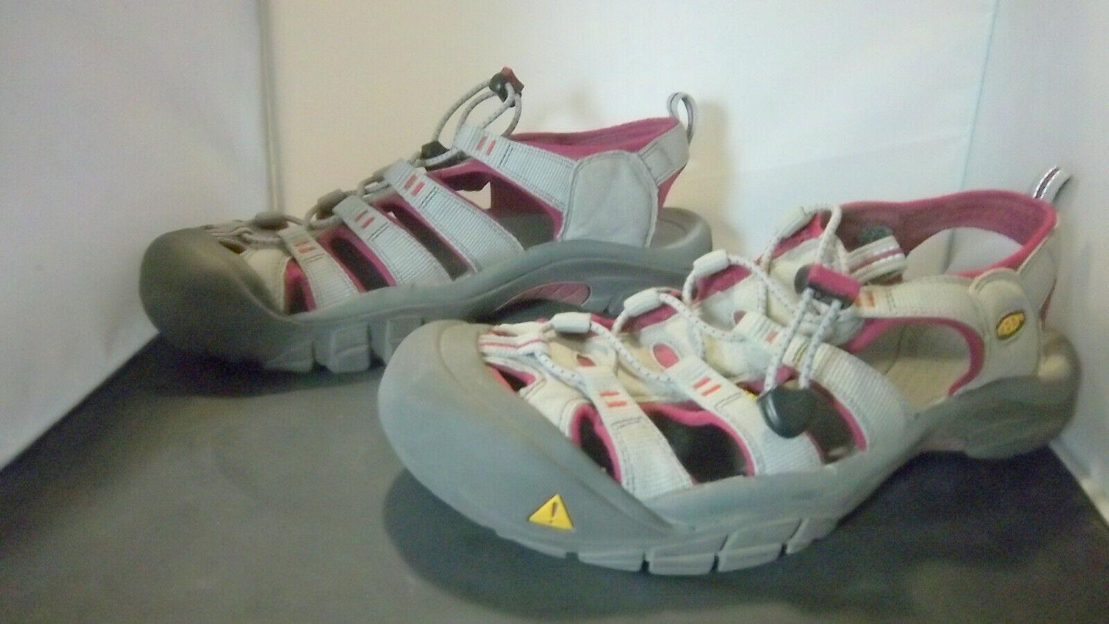 KEEN - Women's Grey/Burgandy Outdoor Waterproof Sandals - SIZE 11
